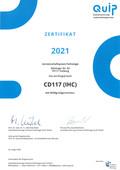 2021 Zertifikat Ringversuch CD117 IHC-1