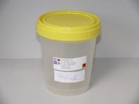 Gefäß mit Schraubverschluss, Deckel gelb 700ml