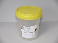 Gefäß mit Schraubverschluss, Deckel gelb 300ml